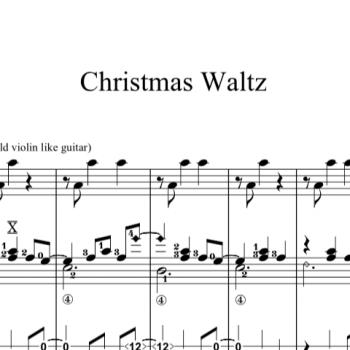 Christmas Waltz Chords.A Magical Place Solo Guitar Soenke Meinen Sonke Meinen
