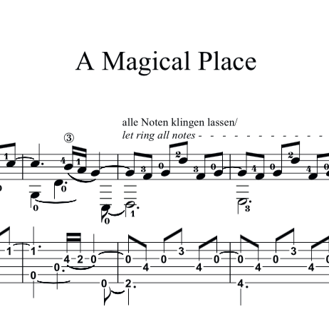 Christmas Waltz Chords.A Magical Place Solo Guitar